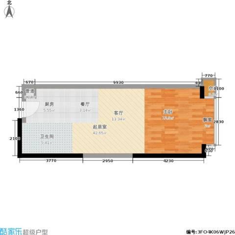 珠江新岸公寓59.00㎡户型图