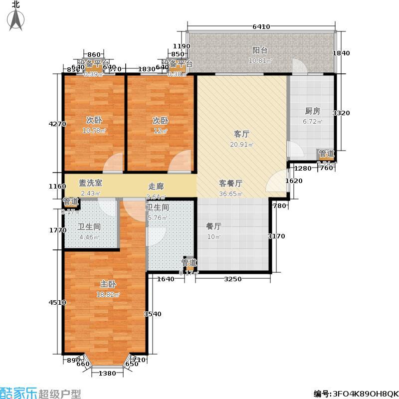 甘露家园116.94㎡3室2厅2卫1厨户型