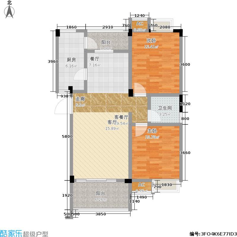 楠郡83.19㎡楠郡户型图楠郡一期I1户型2室2厅1卫1厨(1/13张)户型10室
