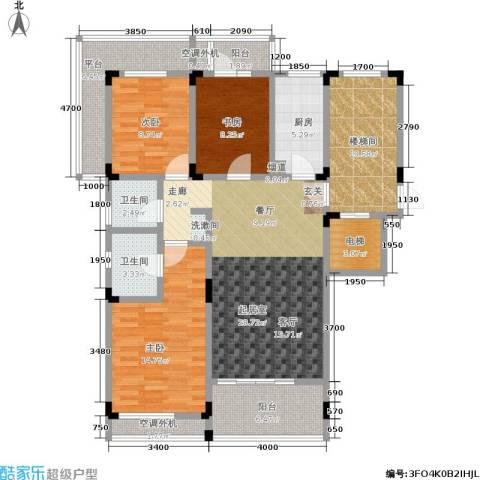 阳光100国际新城3室0厅2卫1厨118.61㎡户型图
