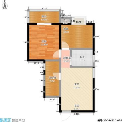 金仕华城2室0厅1卫1厨71.00㎡户型图