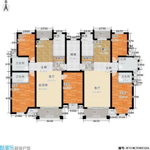 金港河滨华城5室0厅4卫2厨310.00㎡户型图