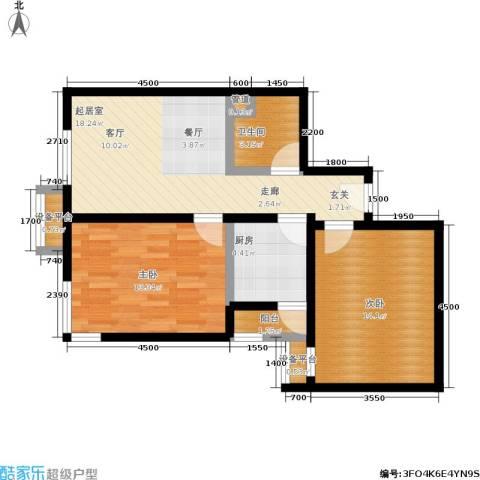 北辰福第2室0厅1卫1厨83.00㎡户型图
