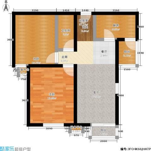 北辰福第2室0厅1卫1厨85.00㎡户型图