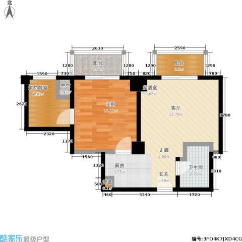宏时中央风景1室0厅1卫0厨65.00㎡户型图