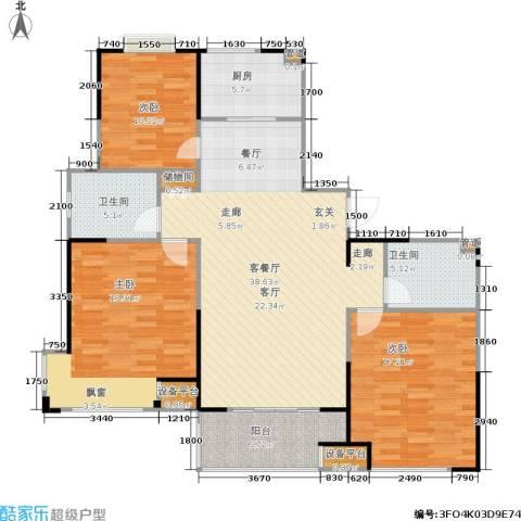新领地3室1厅2卫1厨148.00㎡户型图