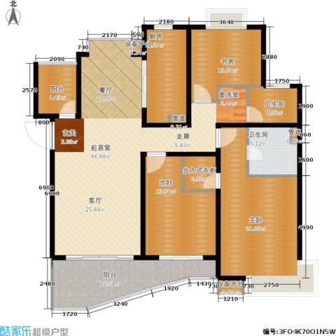爱家亚洲花园3室0厅2卫1厨184.00㎡户型图