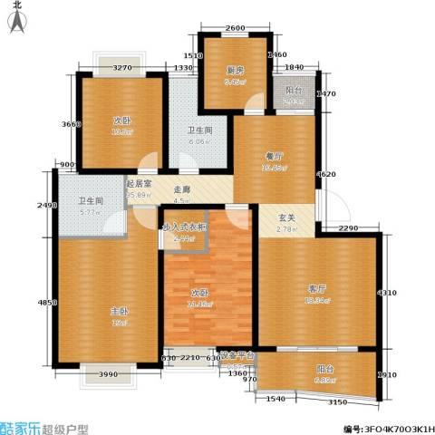 爱家亚洲花园3室0厅2卫1厨136.00㎡户型图