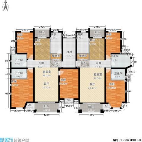 金港河滨华城5室0厅4卫2厨308.00㎡户型图