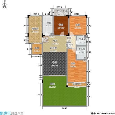 阳光100国际新城3室0厅2卫1厨176.02㎡户型图
