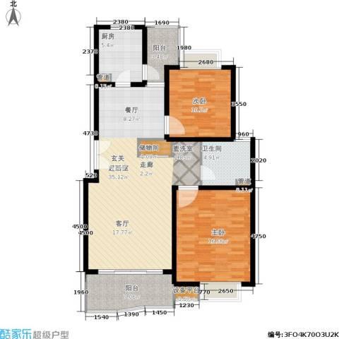 爱家亚洲花园2室0厅1卫1厨92.00㎡户型图