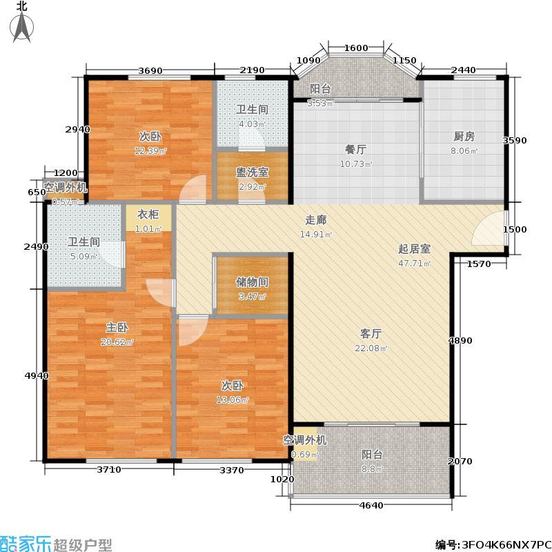 玉龙苑140.00㎡房型: 三房; 面积段: 140 -150 平方米; 户型