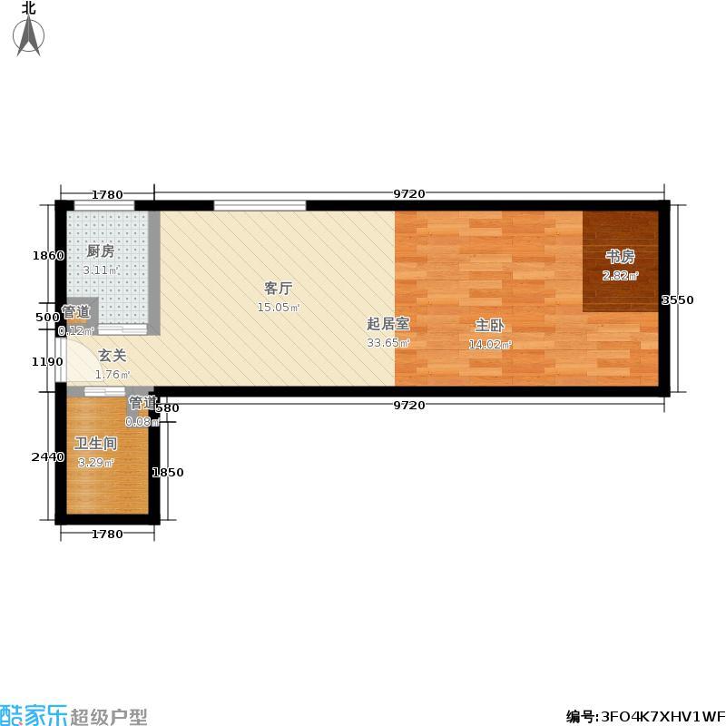 立丰国际公寓48.35㎡户型