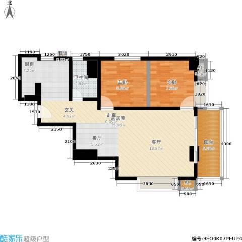 圣地摩坊公馆2室0厅1卫0厨82.00㎡户型图