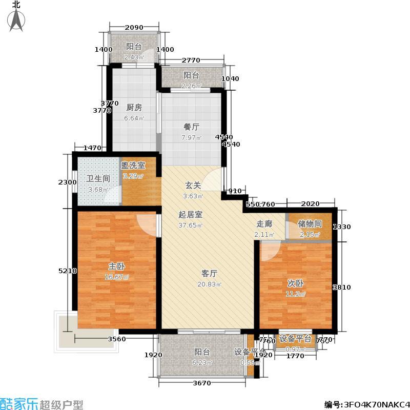 莱金佳园89.15㎡房型: 二房; 面积段: 89.15 -102.65 平方米; 户型
