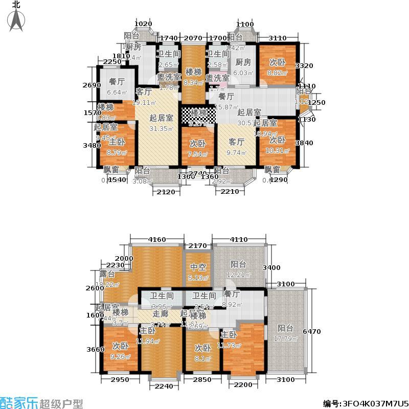 长宏新苑148.53㎡房型复式户型