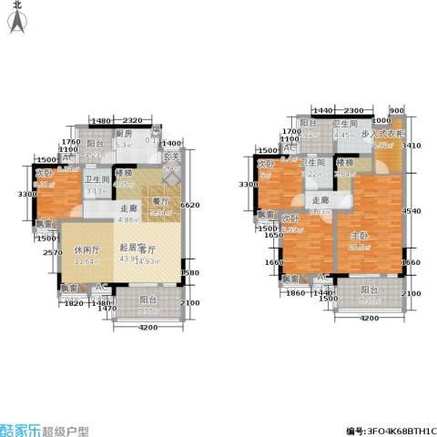 成都合院4室0厅3卫1厨172.00㎡户型图
