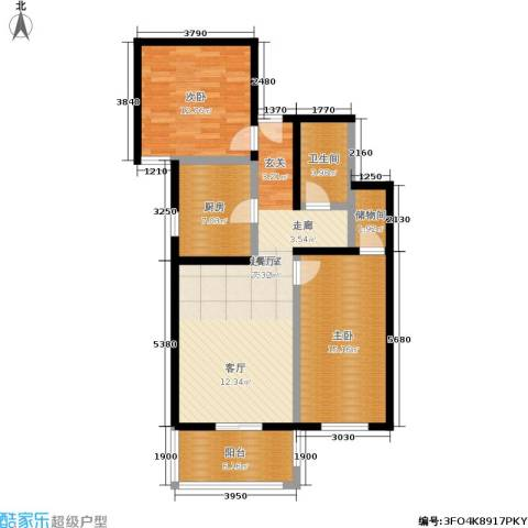 京东丽景苑2室0厅1卫1厨85.00㎡户型图