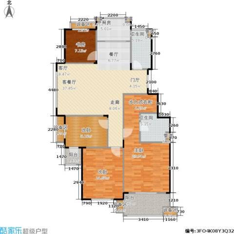 紫园4室1厅2卫1厨137.00㎡户型图