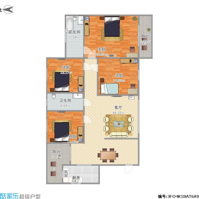 建业高尔夫146平4室