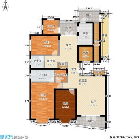 名江七星城3室0厅2卫1厨216.00㎡户型图