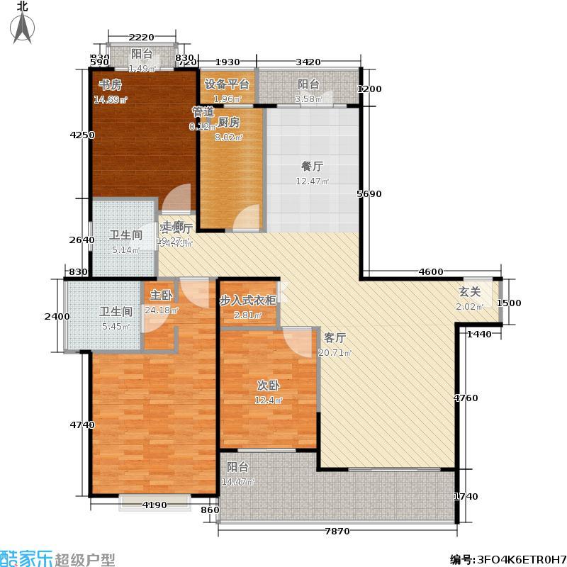 黄浦丽园160.00㎡房型: 三房; 面积段: 160 -170 平方米; 户型