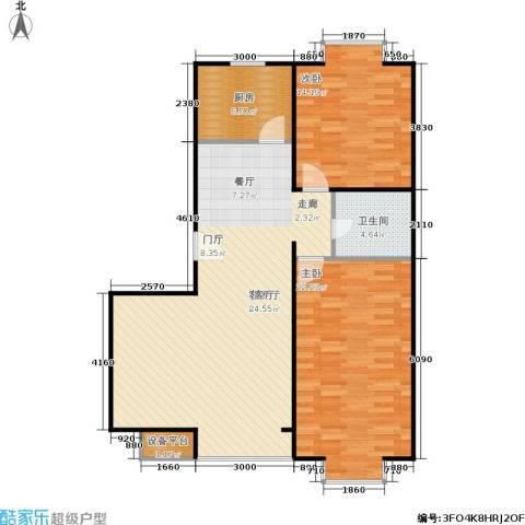 巧克力城2室1厅1卫1厨103.00㎡户型图