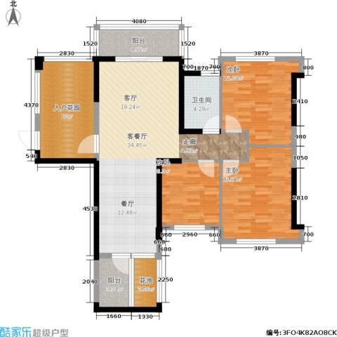 筑梦佳园3室1厅1卫0厨110.00㎡户型图