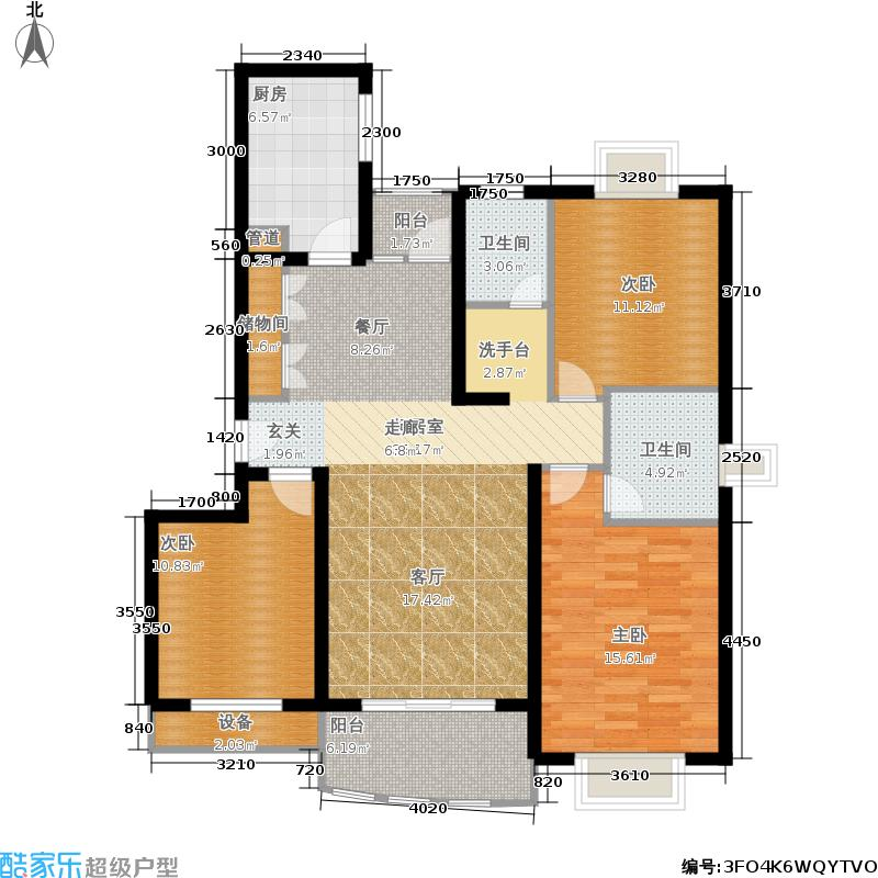 江南名邸113.31㎡房型: 三房; 面积段: 113.31 -144.1 平方米;户型