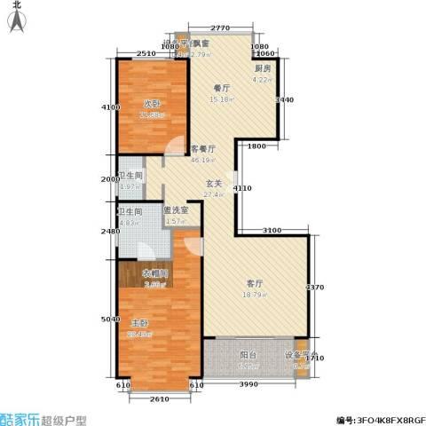 一品亦庄2室1厅2卫0厨124.00㎡户型图