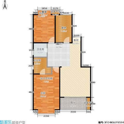 一品亦庄2室1厅2卫1厨112.00㎡户型图