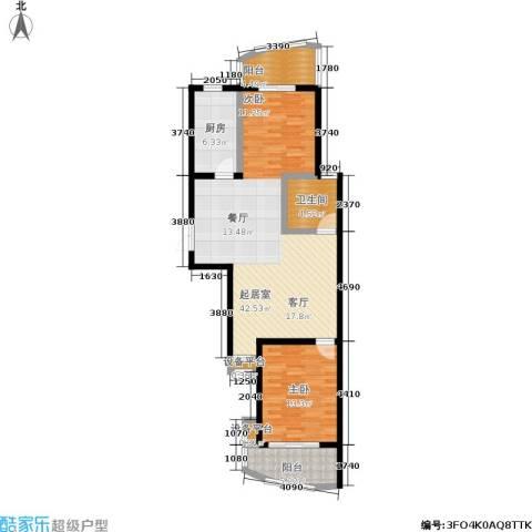 秋涛雅苑1室0厅1卫1厨86.00㎡户型图