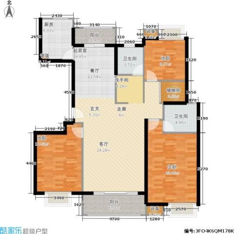 天山怡景苑3室0厅2卫1厨170.00㎡户型图