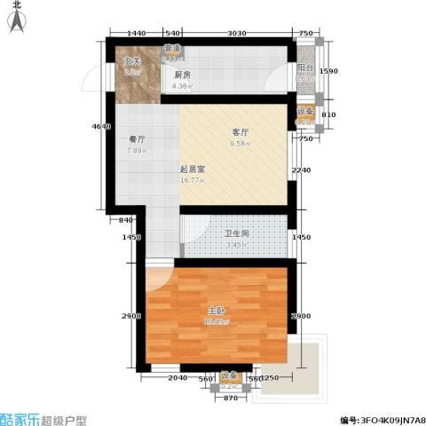 心之筑1室0厅1卫1厨54.00㎡户型图