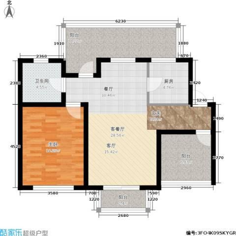 心之筑1室1厅1卫1厨105.00㎡户型图