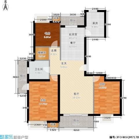 天山怡景苑3室0厅1卫1厨120.00㎡户型图
