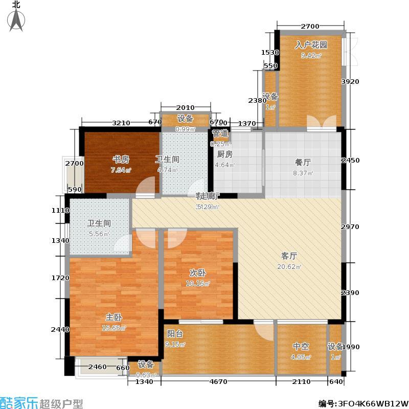 华都美林湾117.44㎡华都美林湾户型图8月在售12号楼G1户型117.44平米三室两厅两卫(已售完)(4/15张)户型3室2厅2卫