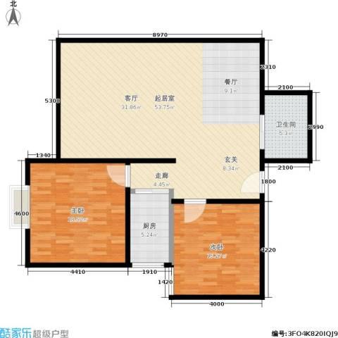 百花明珠2室0厅1卫1厨108.00㎡户型图