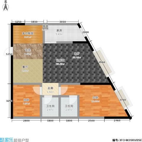 金江大厦2室0厅2卫1厨82.00㎡户型图