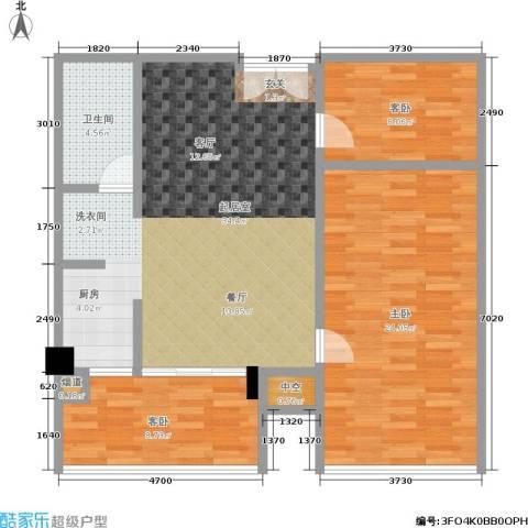 颐和雅轩3室0厅1卫0厨90.00㎡户型图