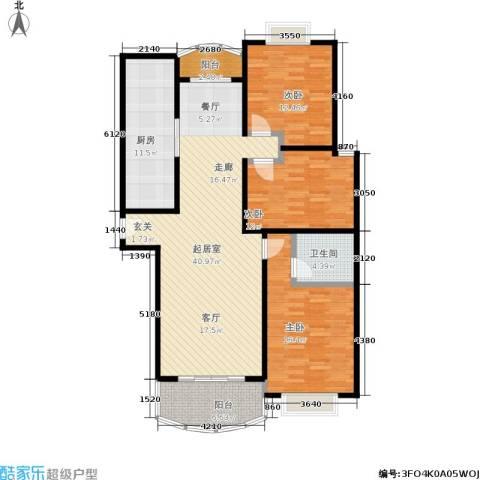 河风丽景3室0厅1卫1厨125.00㎡户型图
