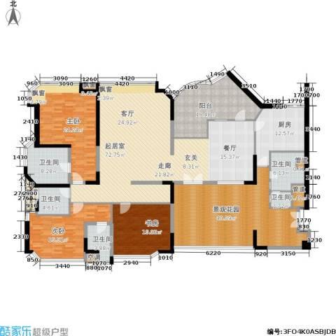 金海湾3室0厅5卫1厨228.35㎡户型图