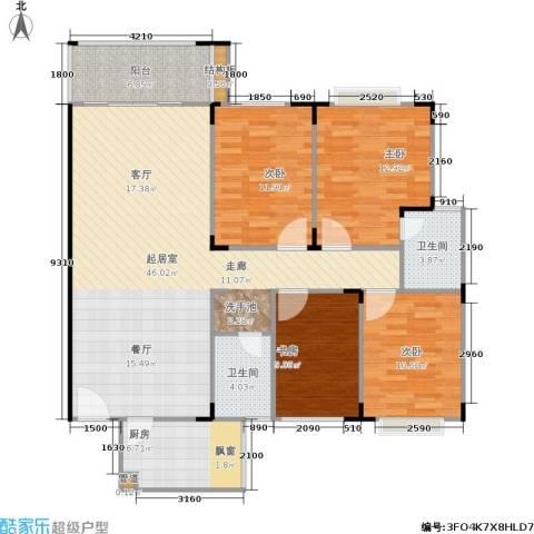 佳天雅苑4室0厅2卫1厨130.00㎡户型图