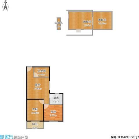 长安壹线2室1厅1卫1厨100.00㎡户型图