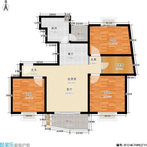 维多利华庭3室0厅1卫1厨121.00㎡户型图
