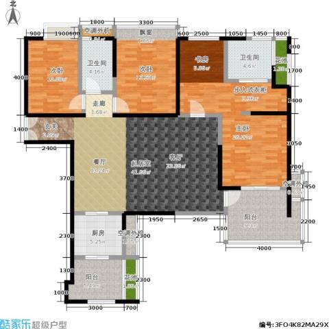 海峡国际社区3室0厅2卫1厨178.00㎡户型图