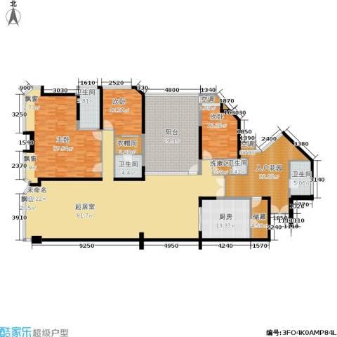 金海湾3室0厅4卫1厨262.00㎡户型图
