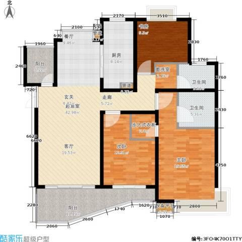 爱家亚洲花园3室0厅2卫1厨120.22㎡户型图
