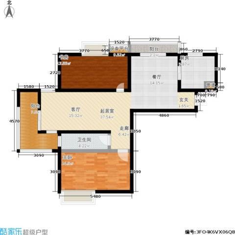 盛源家豪城2室0厅1卫1厨100.00㎡户型图