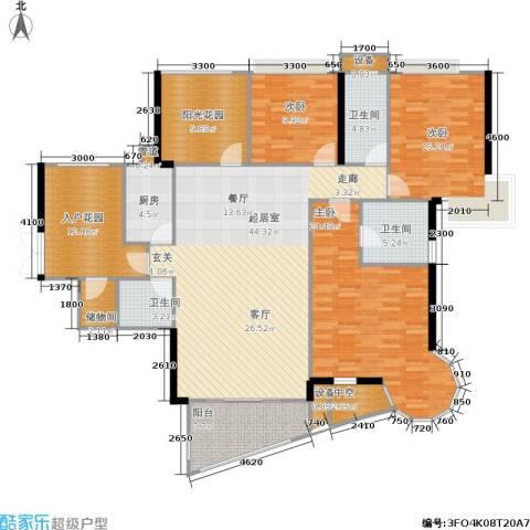 广电江湾新城3室0厅3卫1厨169.00㎡户型图